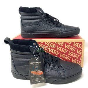 VANS SK8-HI MTE Leather Black Women's Sneakers